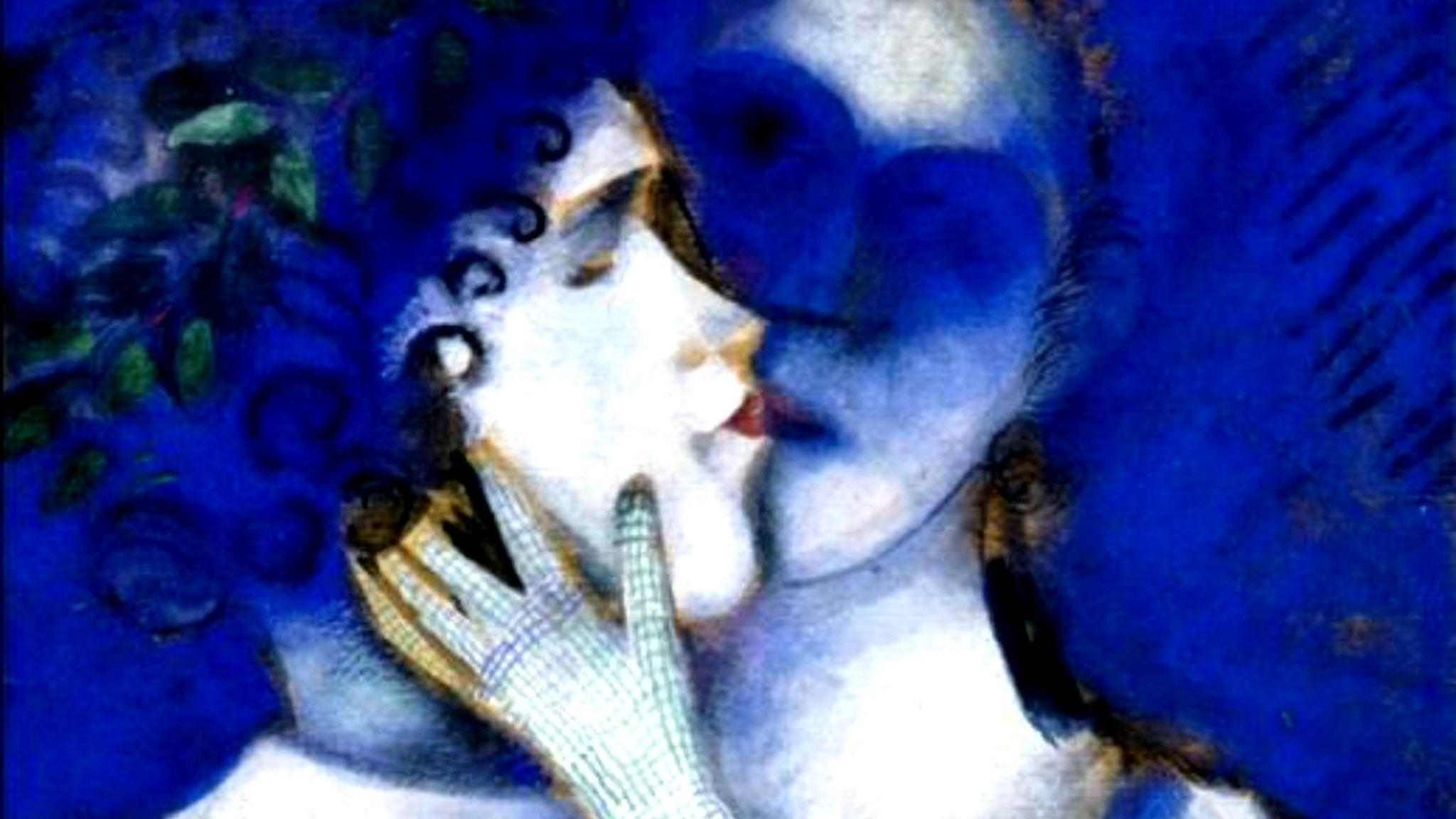 Blå älskande. Marc Chagall, 1914.