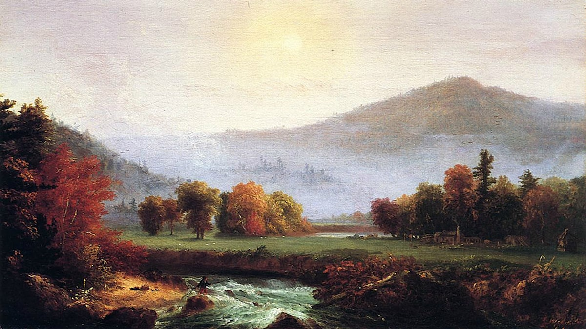 'Morgondimman lättar'. Thomas Cole (1830).