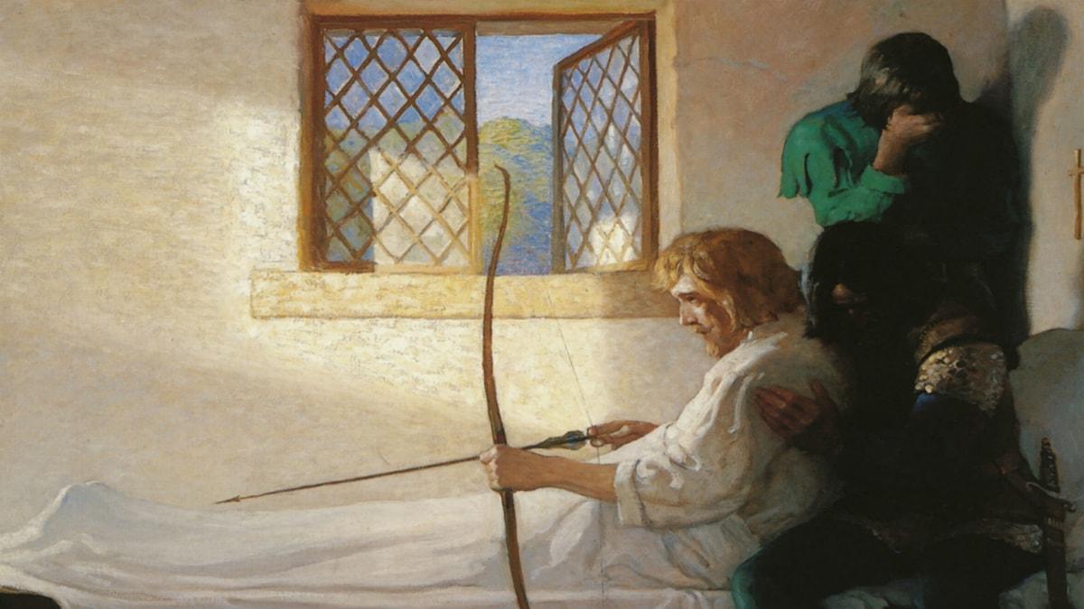 The Passing of Robin Hood. N.C. Wyeth (1917)