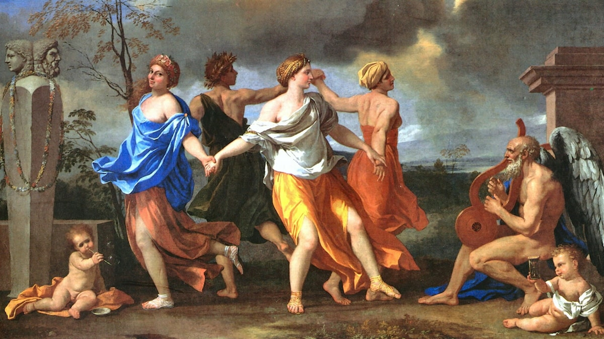Dance to the Music of Time (1634). Nicolas Poussin