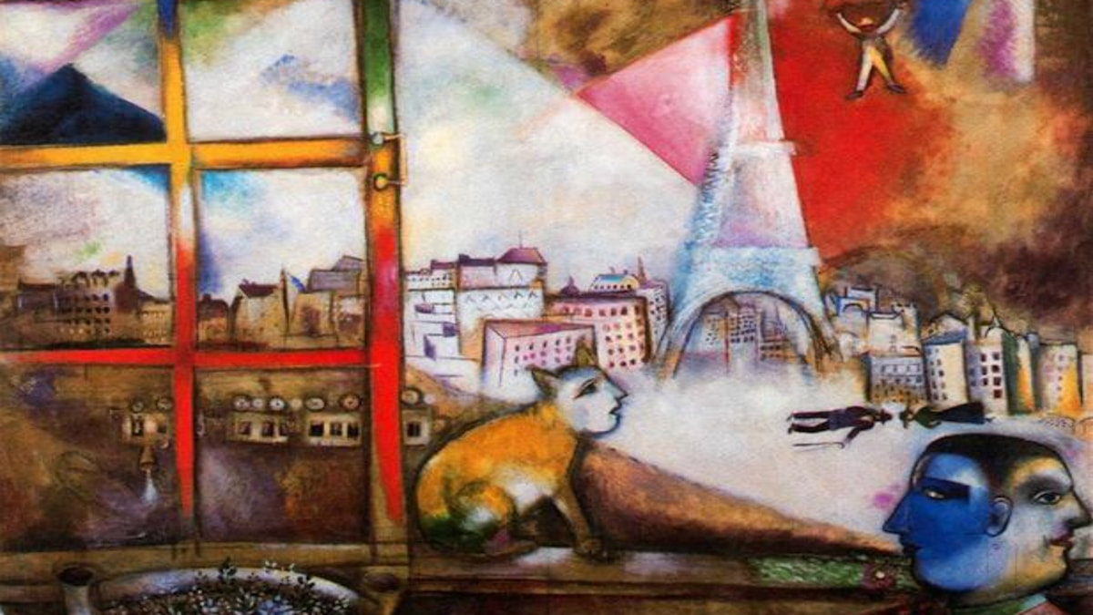 Paris genom fönstret. Marc Chagall, 1913.