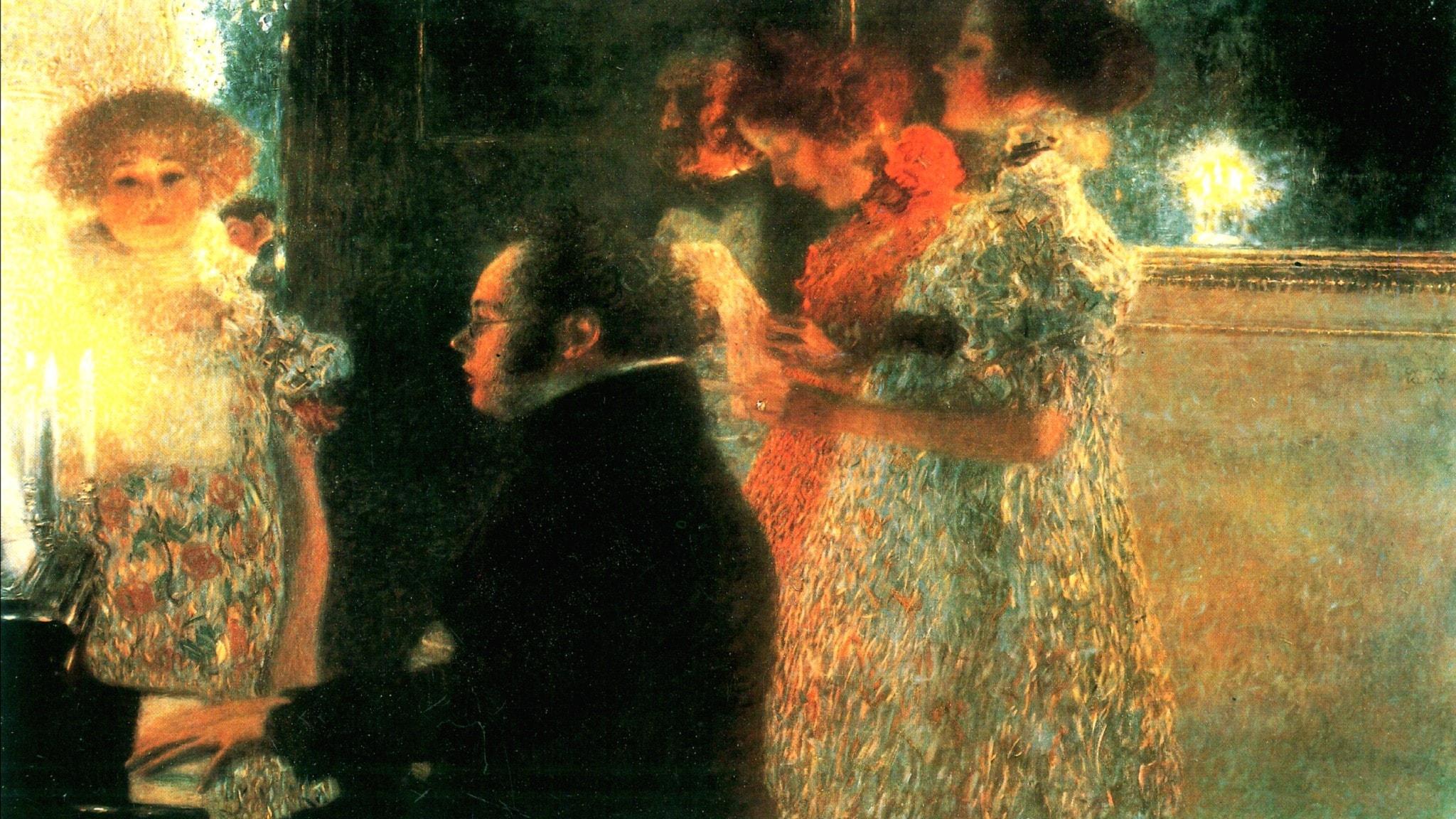 Schubert vid pianot. Gustav Klimt, 1899.