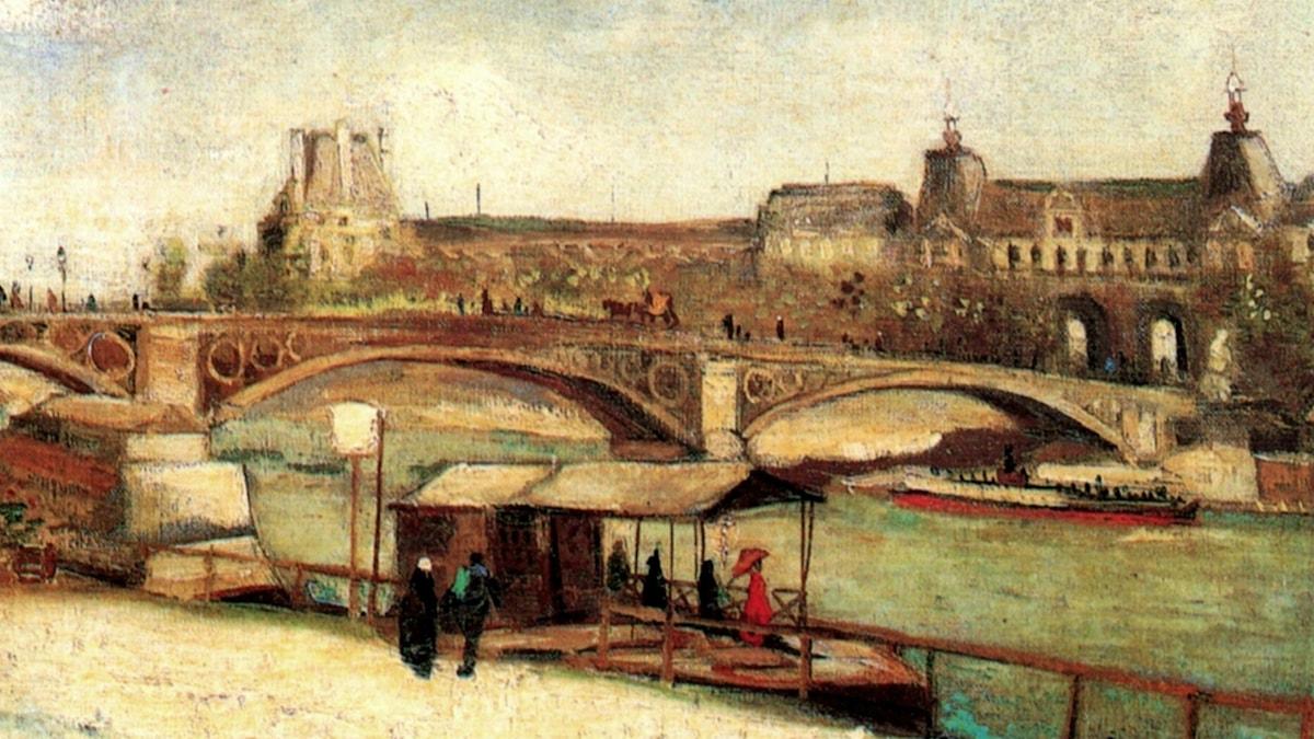 The Pont du Carrousel and the Louvre (1886). Vincent van Gogh
