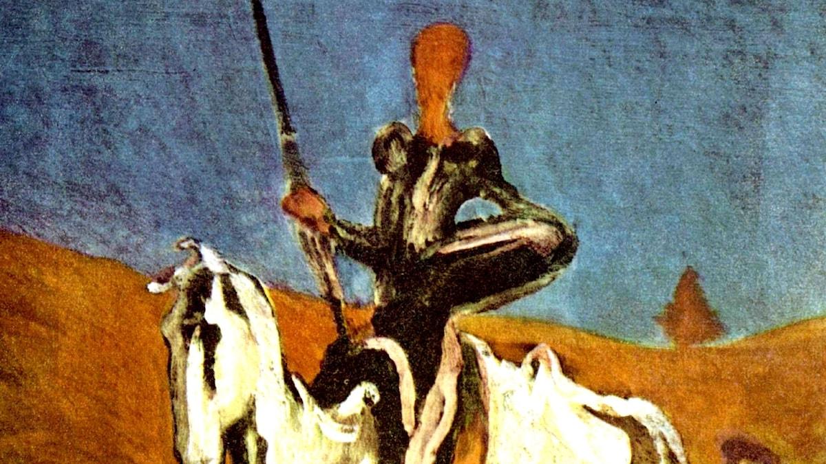 Honoré Daumier: Don & Sancho Pansa (c1865-1870)