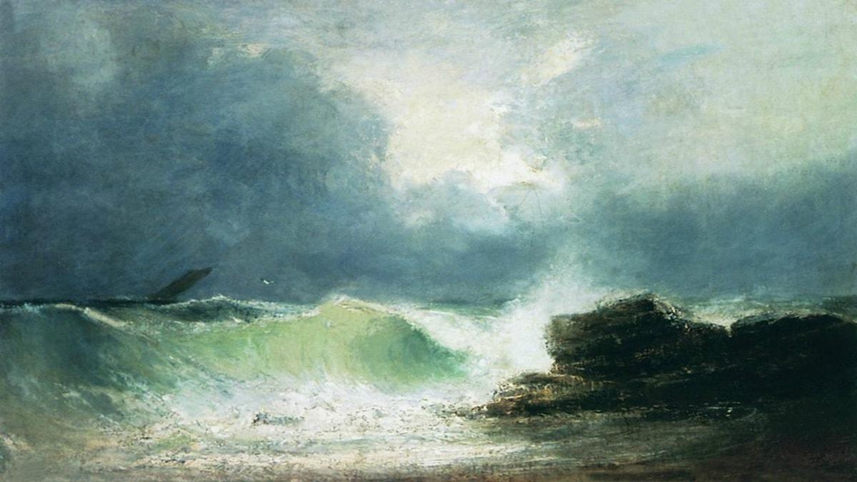 Havskustvågor. Ivan Aivazovsky, 1880.