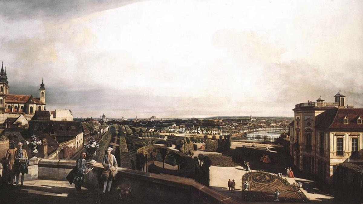 Vienna, Panorama from Palais Kaunitz (ca. 1759). Bernardo Bellotto