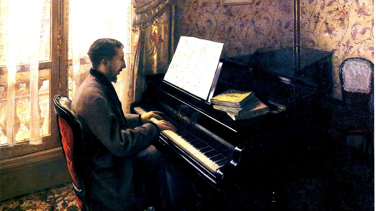 Gustave Caillebotte: Young man playing the piano (1876)