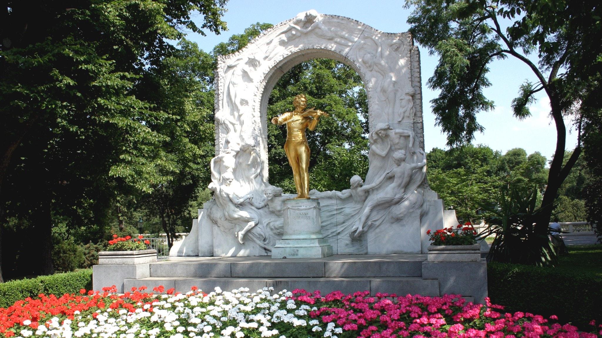 Johann Strauss, Stadtpark i Wien.