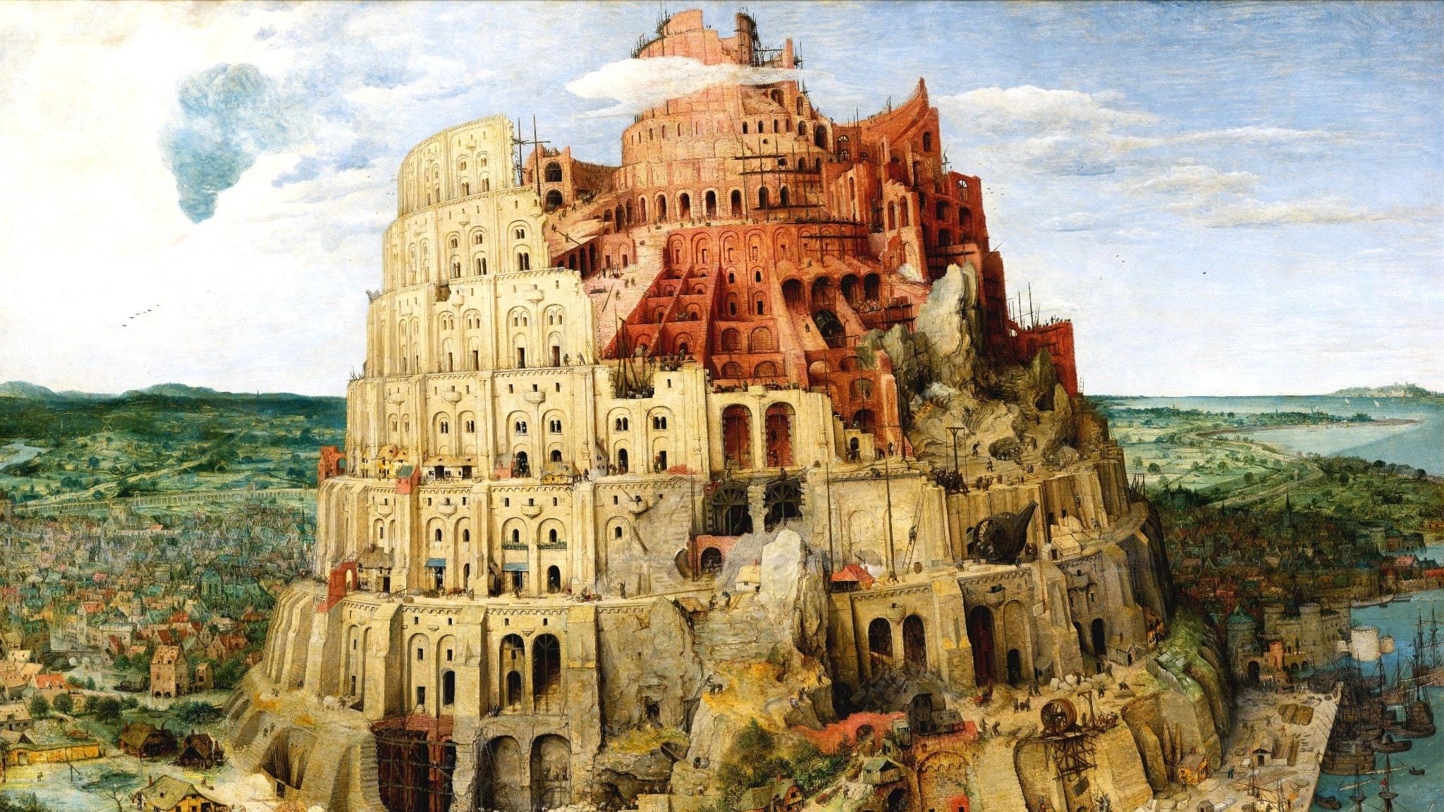 'Toren van Babel'. Pieter Bruegel (d.ä.), 1563.