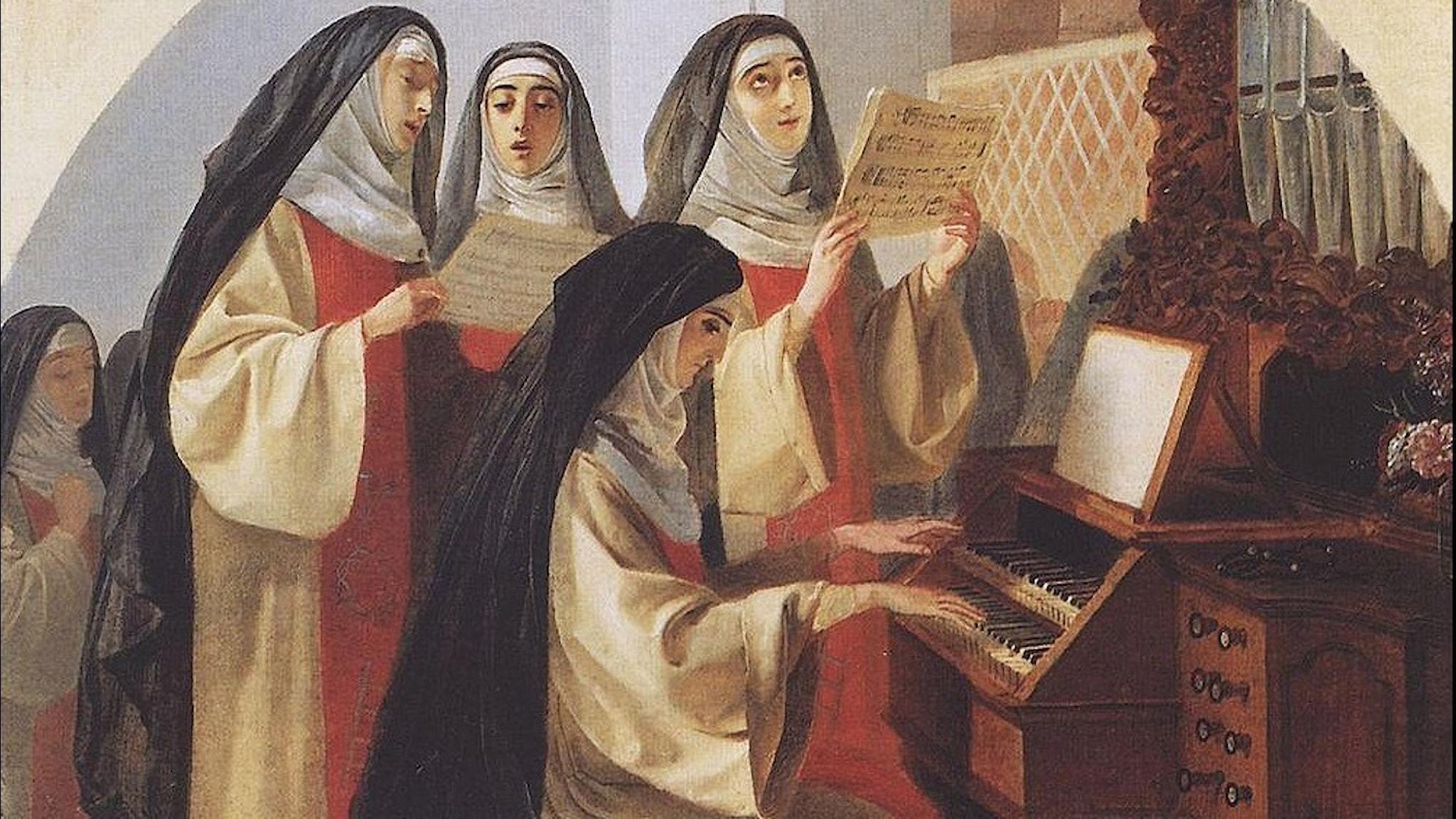 Nunnekloster för det heliga hjärtat i Rom. Karl Bryullov-1849