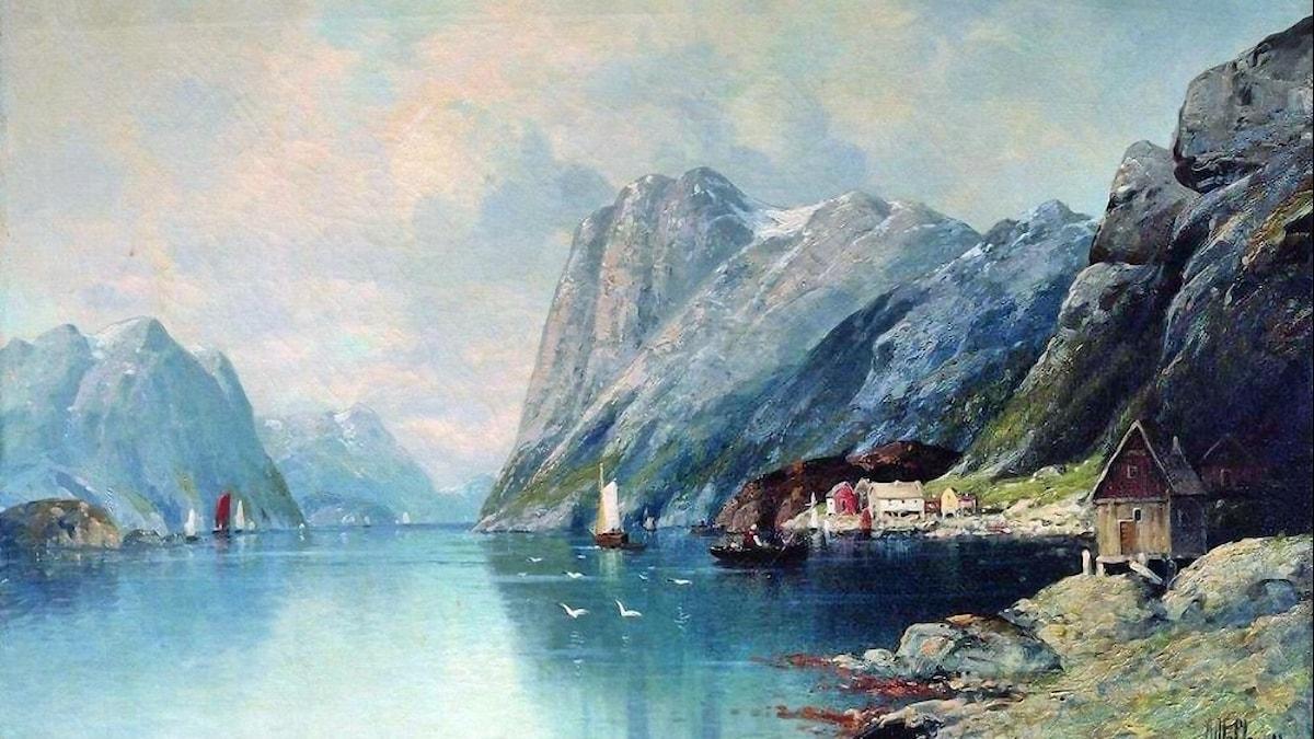 Fjord i Norge. Lev Lagorio (1899).