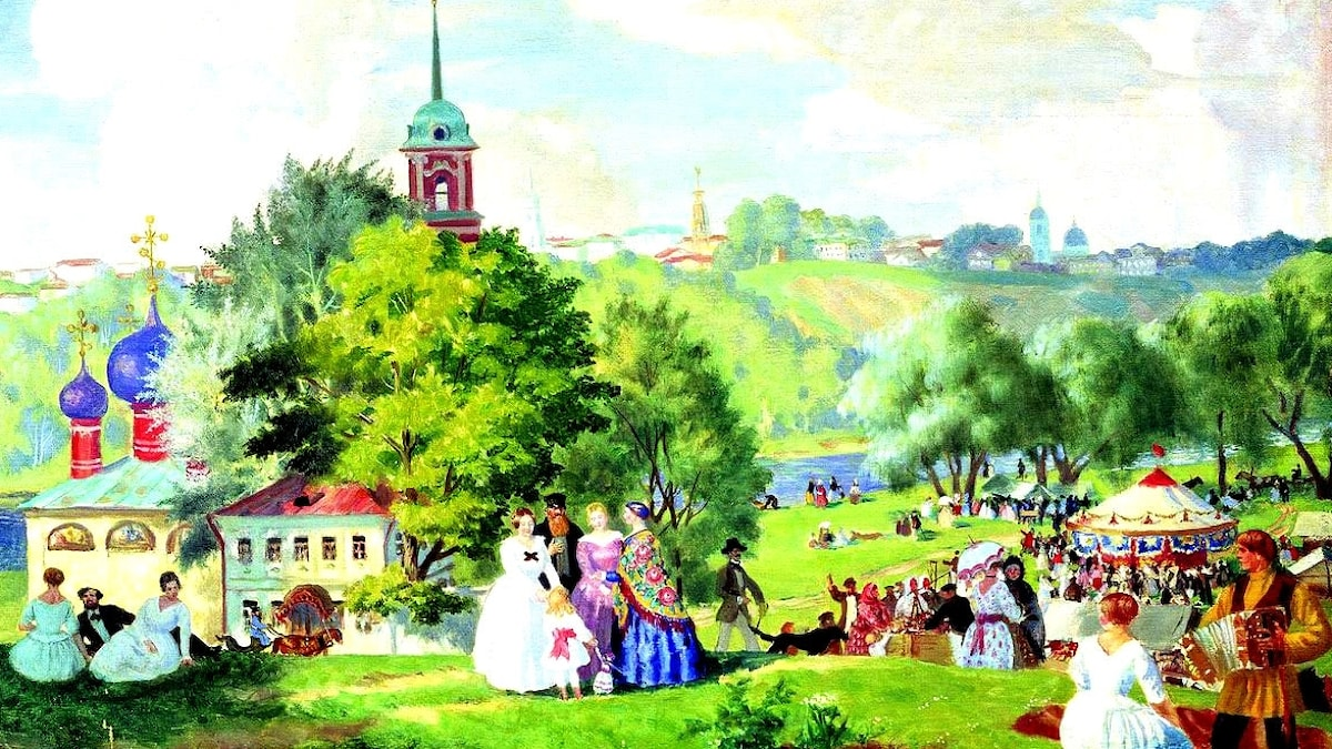 Boris Kustodiev: Summer holiday (1922)