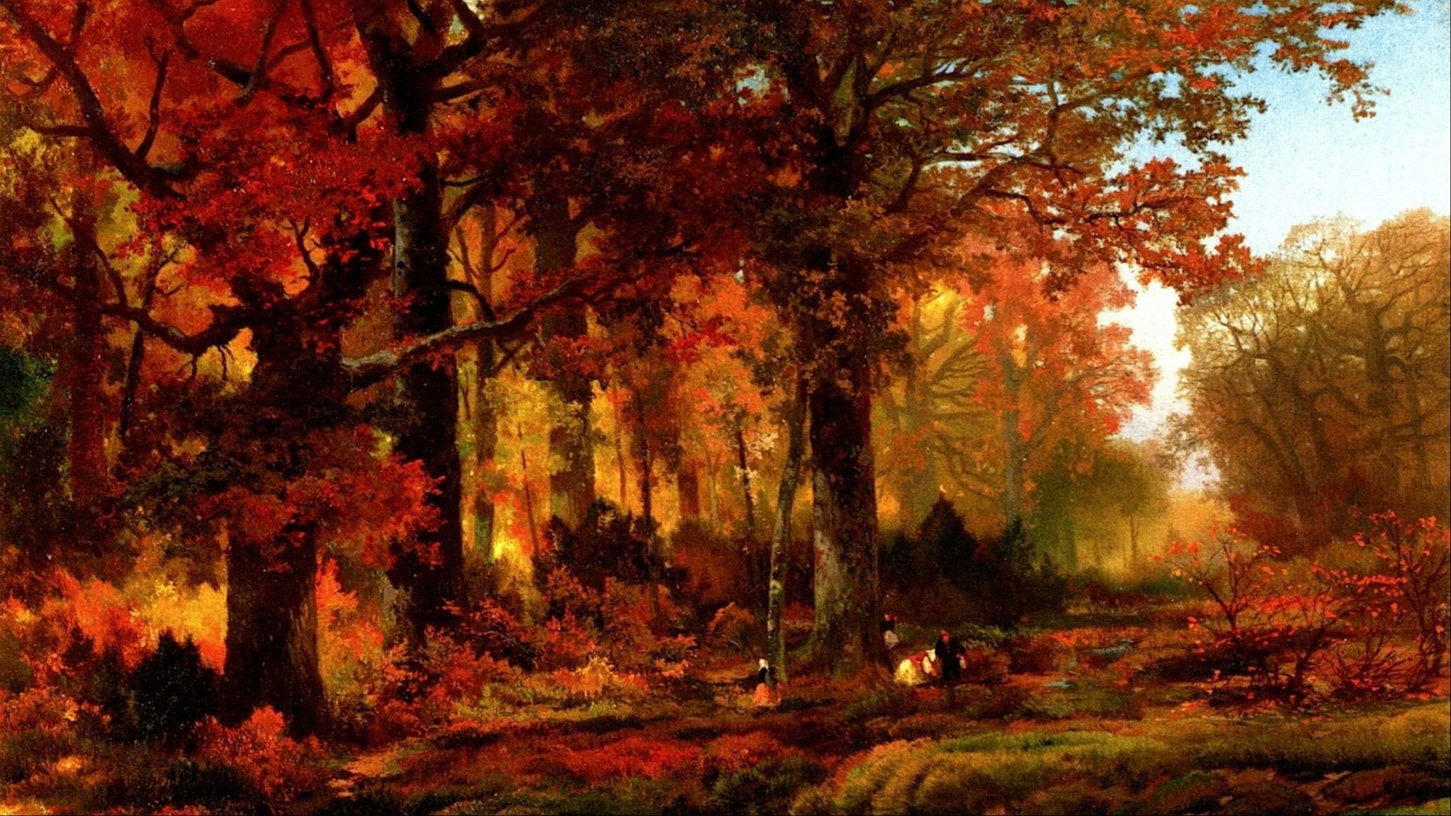 """Höst i Cresheim Glen, Wissahickon"". Thomas Moran, 1864."