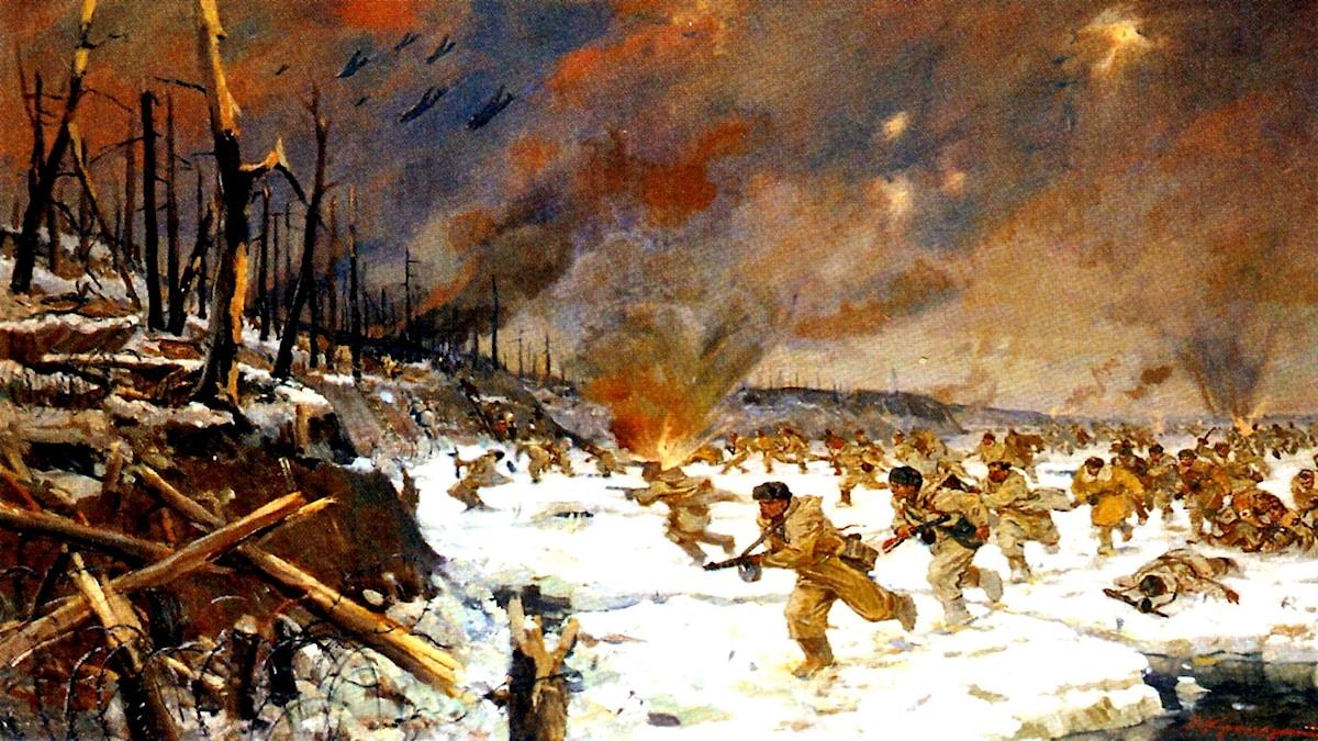 Leningrads front, januari 1941. Veniamin Kremer, 1951.