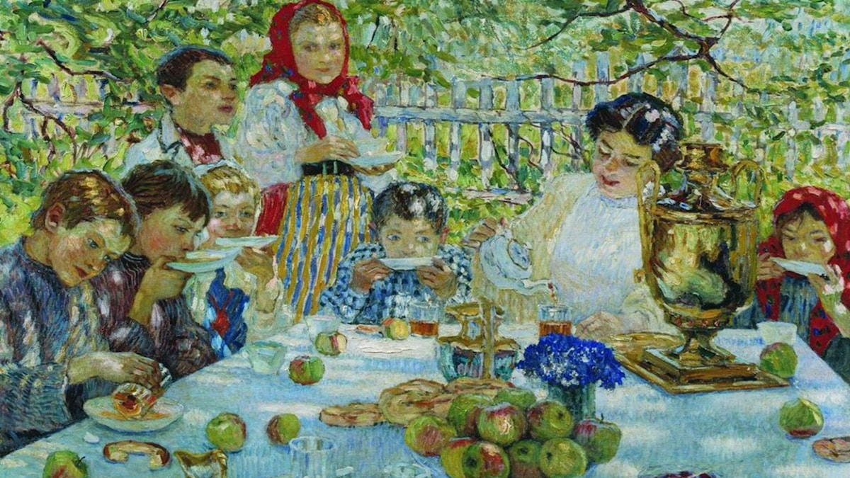 Lärarinnans födelsedag, Nikolay Bogdanov-Belsky -1920
