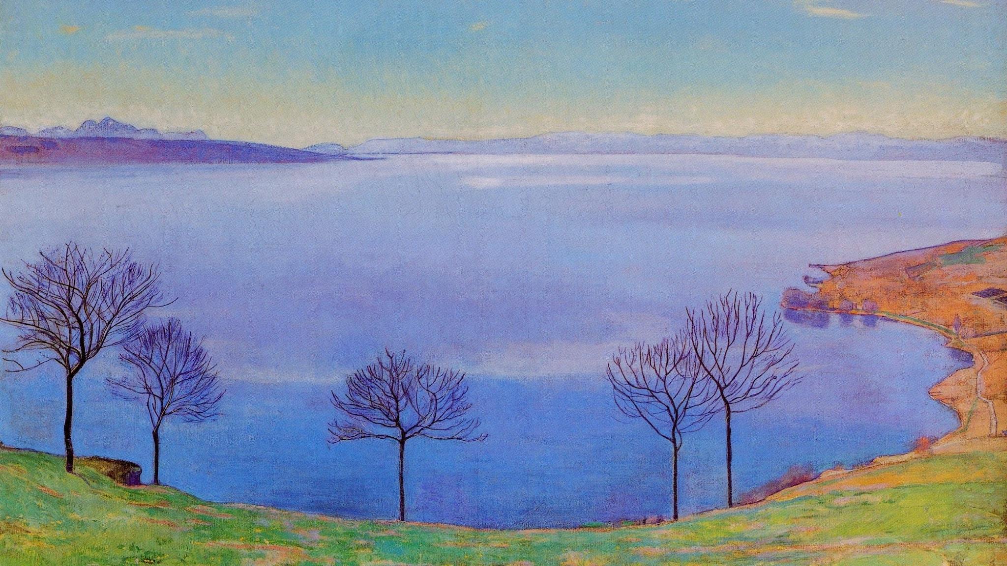 Genèvesjön sedd från Chexbres. Ferdinand Hodler-1898