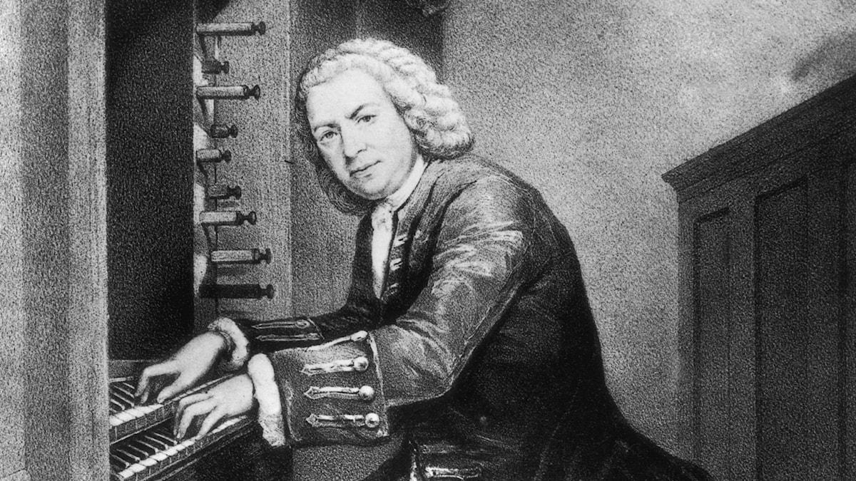 Porträtt av J.S. Bach vid orgeln. Okänd (1725)