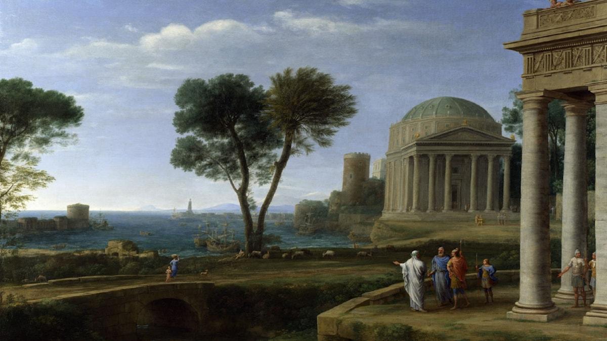 Landscape with Aeneas at Delos. Claude Lorraine (1672)