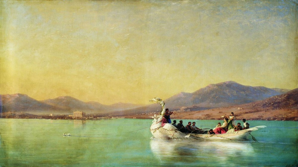 The wedding of the poet in ancient Greece. Ivan Aivazovsky (1886)