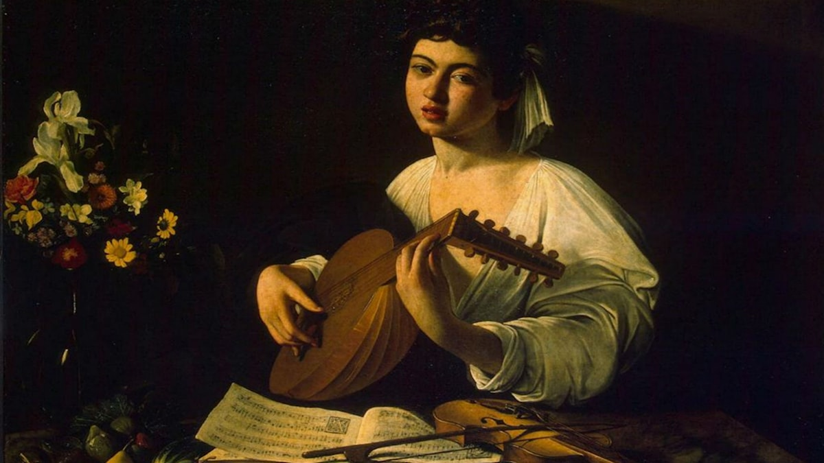 The Lute Player. Caravaggio (ca. 1596)