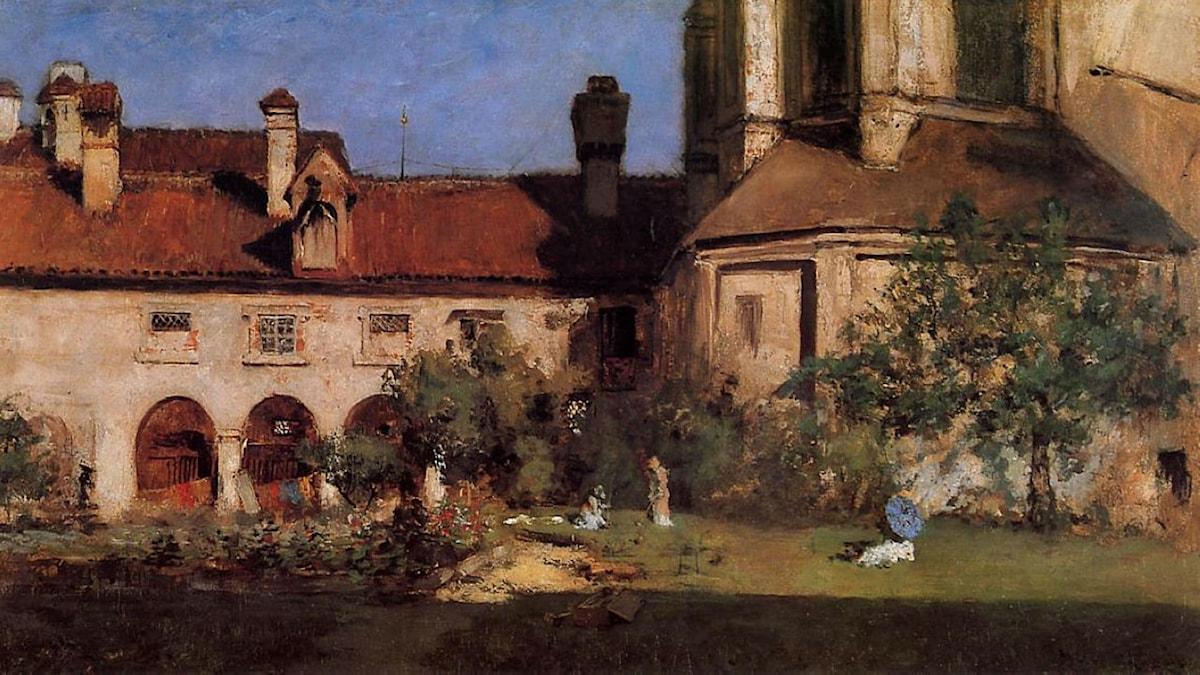 The Cloisters. William Merritt Chase (1880)