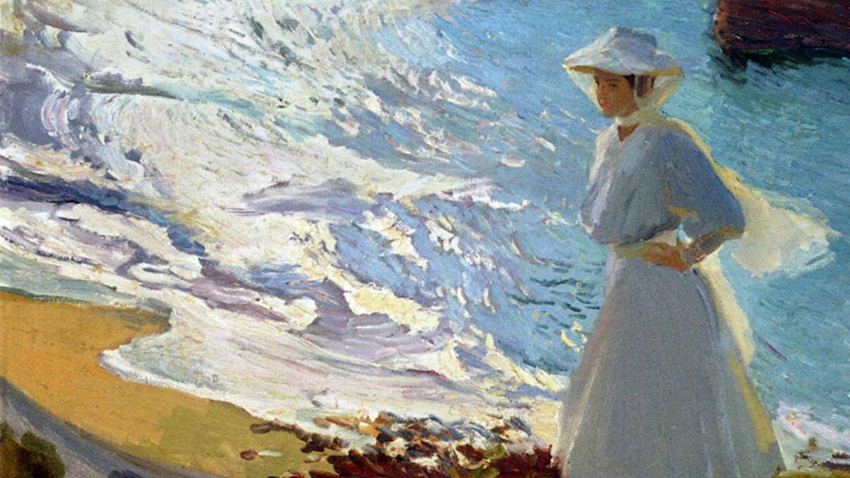 Maria vid stranden. Joaquín Sorolla, 1906.