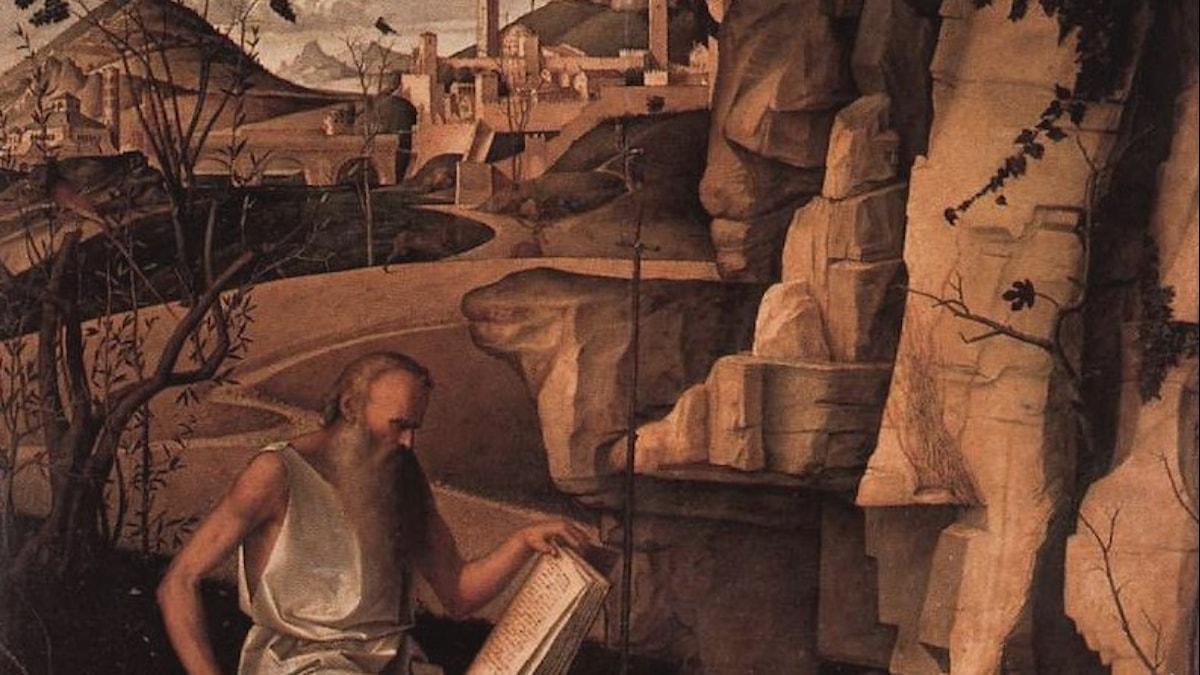 St Jerome i öknen- Giovanni Bellini