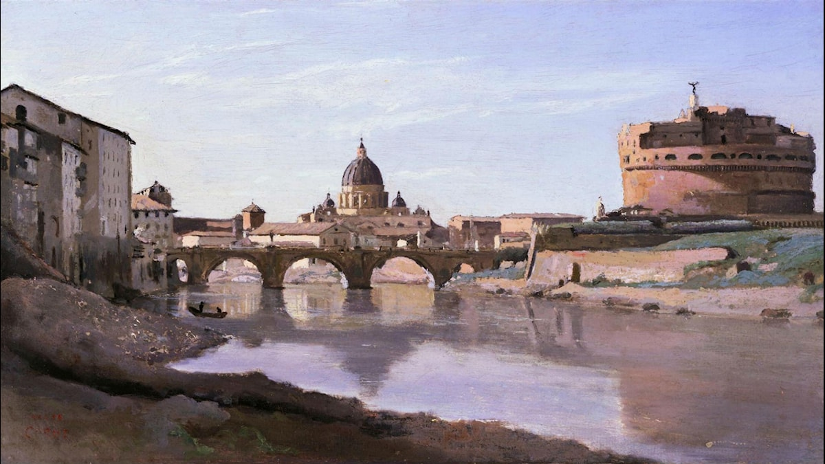 Rome, Castle Sant Angelo. Camille Corot (1826-1827)