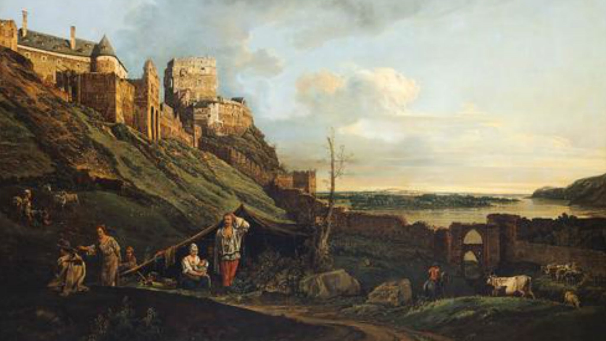 The ruins of Thebes on the River March. Bernardo Bellotto (1758).