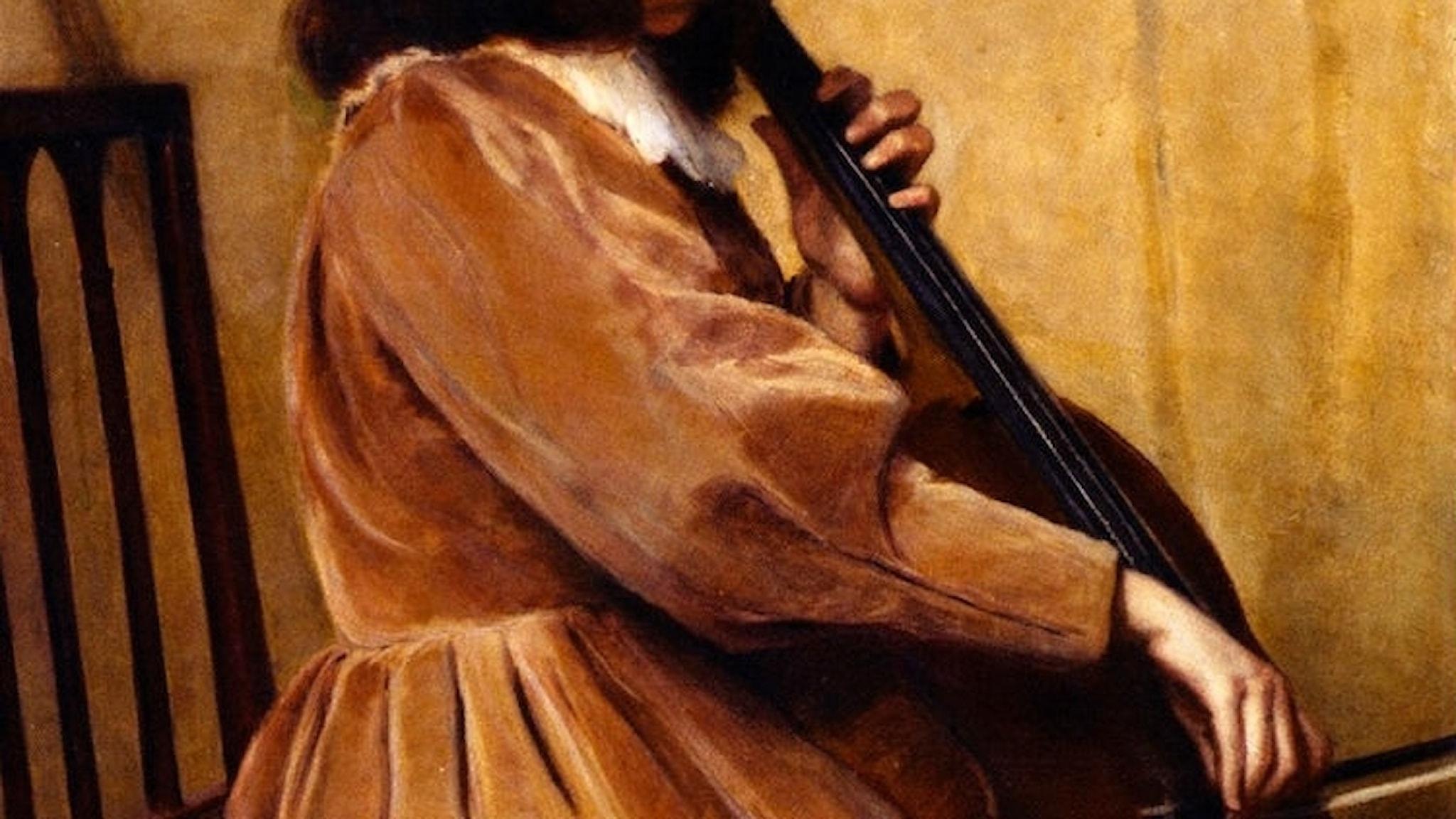 Lilla Cabot Perry; Cellospelande flicka (1891)