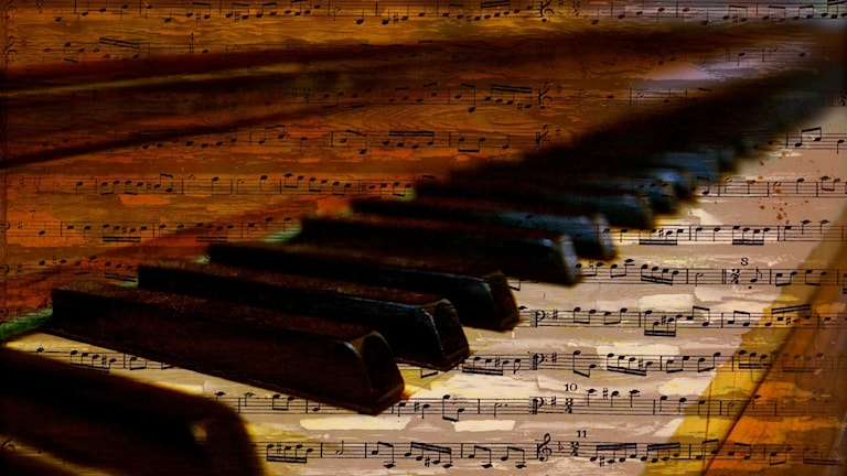 Noter och klaviatur.