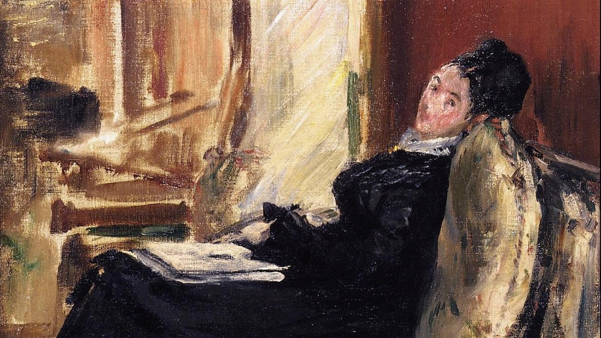 Ung kvinna med en bok. Edouard Manet- 1875