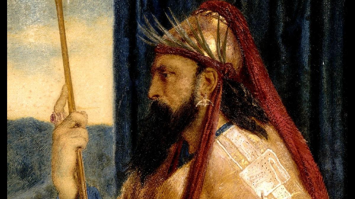 Kung Salomo. Simeon Solomon, 1874