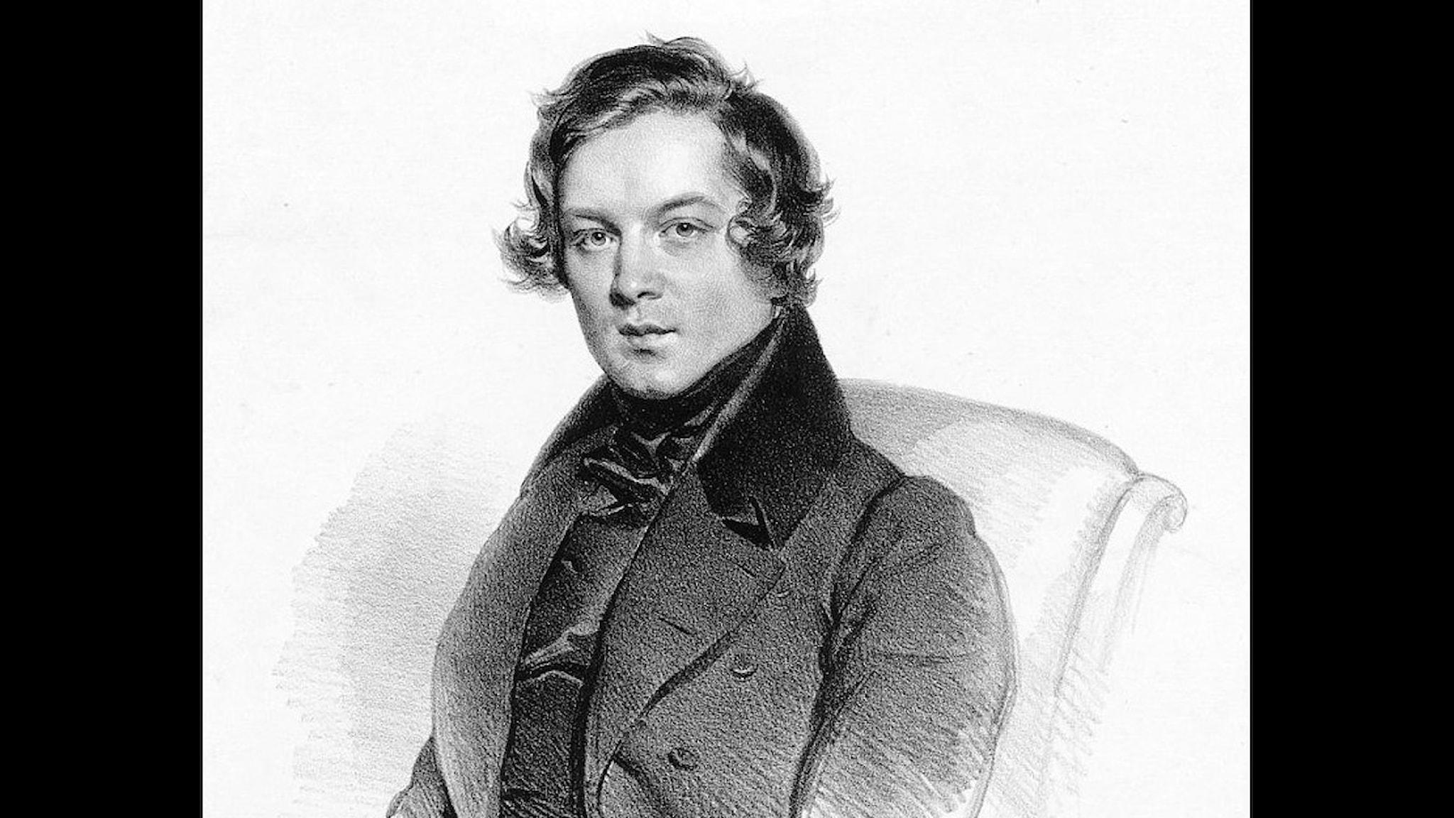 Robert Schumann 1839. (Josef Kriehuber) Wikiart