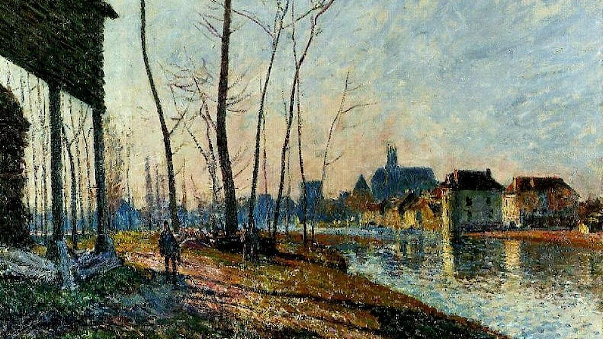 Alfred Sisley: Februarimorgon (1881)