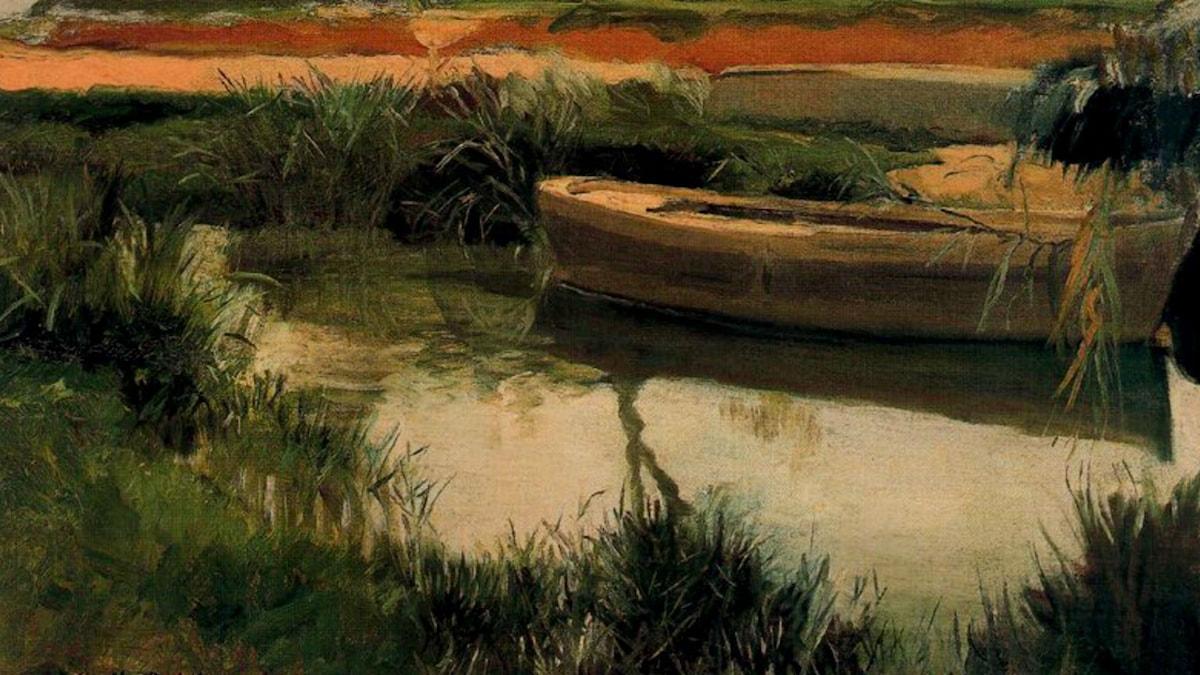 Boat in Albufera. Joaquín Sorolla (1908)