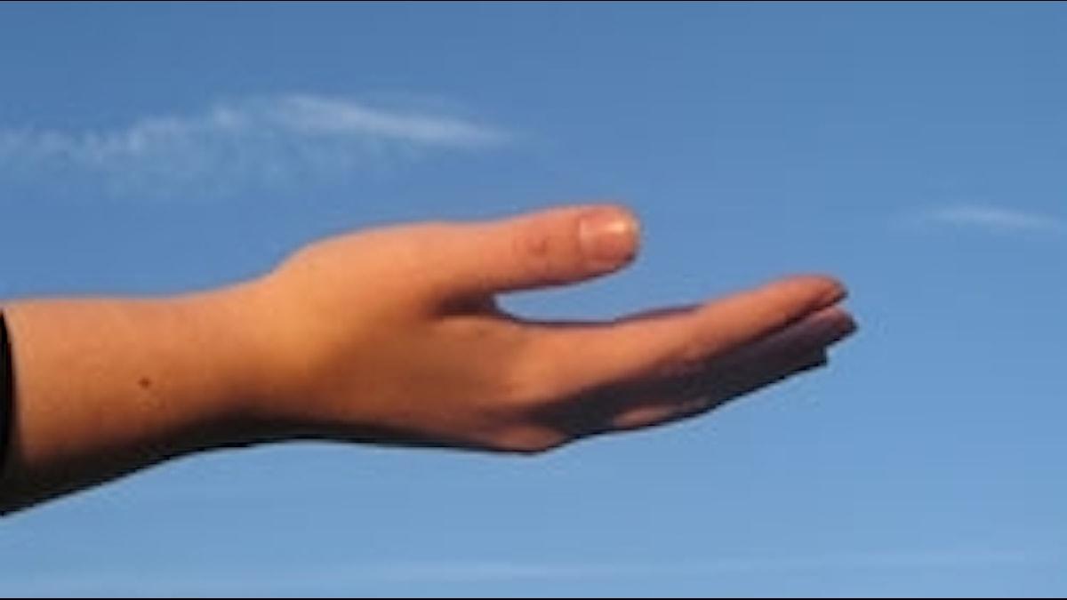Utsträckt hand