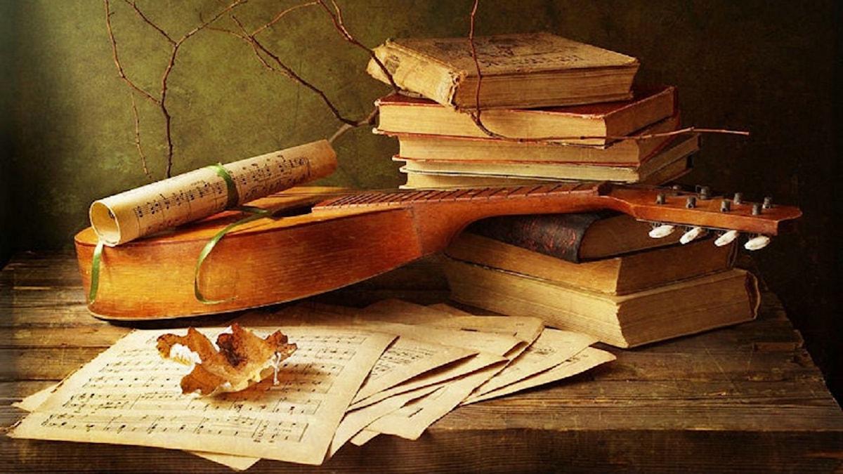 Böcker och luta