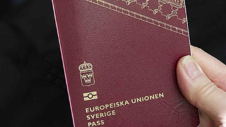 گذرنامه  سوئدی  Foto: Rikspolisstyrelsen/TT