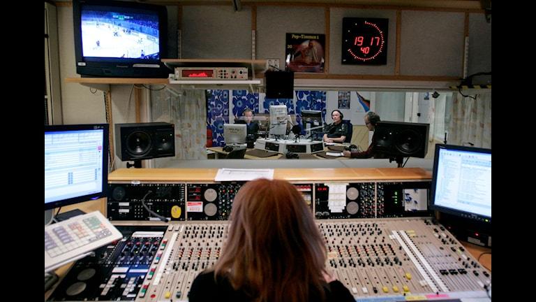یکی از استودیوهای پخش رادیو سوئد  Foto: Bertil Ericson / TT