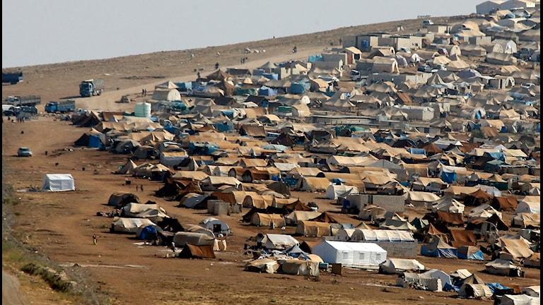 یکی از اردوگاه های سازمان ملل برای پناهندگان سوری  Photo: Gregorio Borgia/AP/TT