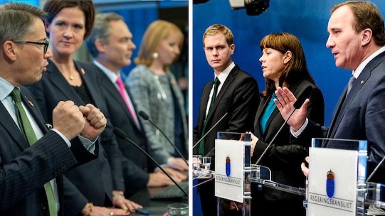 مذاکراتی میان احزاب تشکیل دهنده دولت و احزاب ائتلاف بورژوایبی درجریان است.