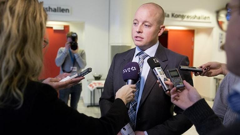بیورن سودر، دبیرسیاسی حزب دموکرات های سوئد Foto: Per Groth/TT