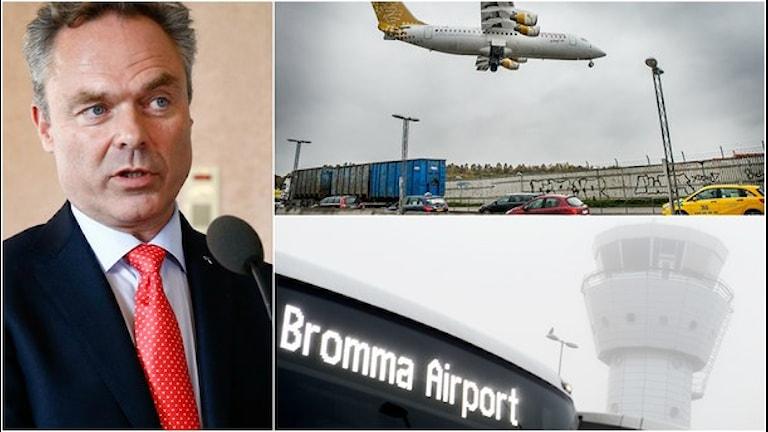 فرودگاه برومما. یان بیورک لوند با بررسی وضعیت آینده این فرودگاه مخالف است Foto: TT