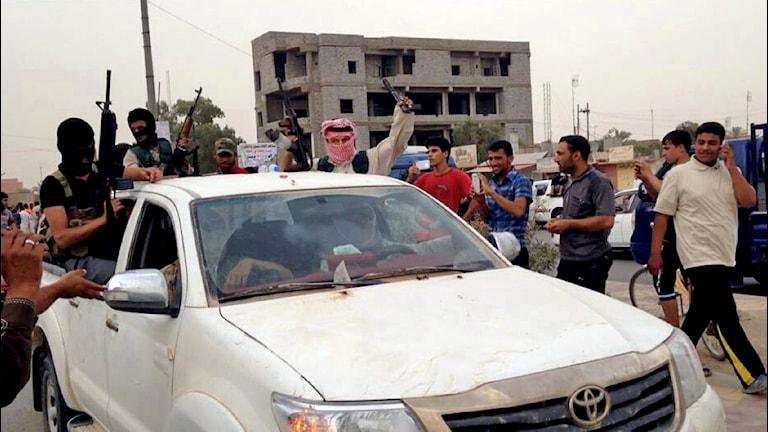 نیروهای دولت اسلامی در بیجه در۲۵۰ کیلومتری شمال بغداد Foto: AP/TT