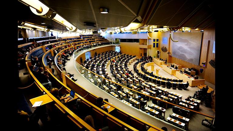 نخستین مناظره پارلمانی رهبران احزاب در سال جدید  Foto: Erik Mårtensson/TT