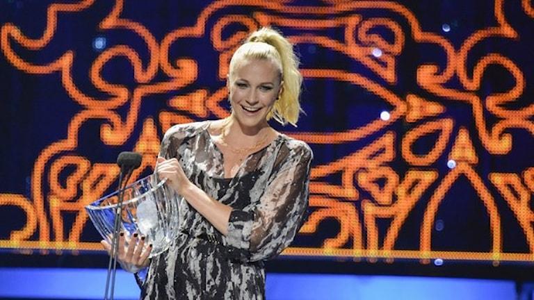 سارا خوستروم، جایزه ورزشکار توانای سال را دریافت کرد  Foto. Henrik Montgomery/ TT