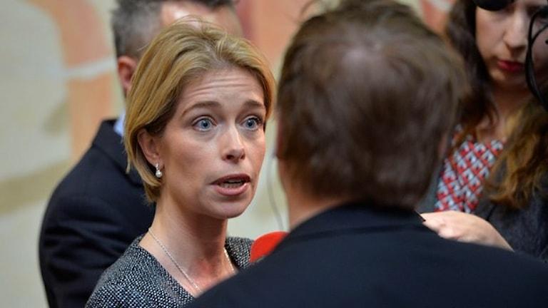 وزیر بیمه های اجتماعی، انیکا استراندهِل  Foto: Henrik Montgomery/TT