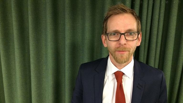 یاکوب فورش شمد، نامزد رهبری حزب دموکرات مسیحی Foto: Markus Eriksson/Sveriges Radio