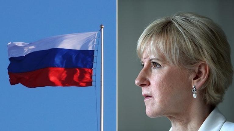مارگوت والستروم، وزیرامورخارجه سوئد به اظهارات تهدیدآمیز مقامات روسیه واکنش شدید نشان داد Foto. TT